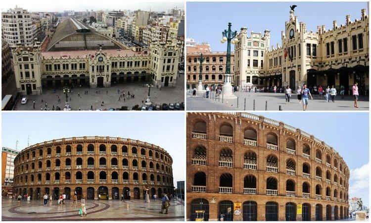 Северный вокзал иАрена для боя быков: достопримечательности в Валенсии