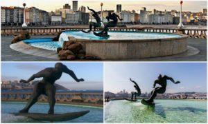 фонтан серфингистов