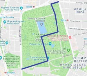 Карта парка Буэн Ретиро