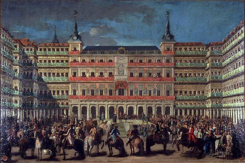 Пласа Майор по случаю входа Карлоса III в Мадрид